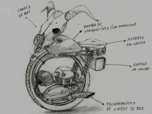 Desenho do moniciclo usado no game (Foto: Divulgação/Soterotech)