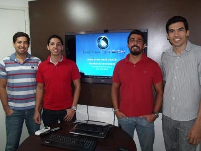 Equipe  Soterotech - da esquerda para direita os diretores e sócios da empresa -  Fernando Bofill , Diego Potapczuk, Jailson Silva, Mariano Menezes. (Foto: Amanda Nolasco).